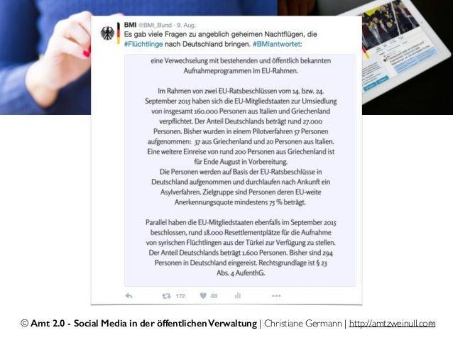 © Amt 2.0 - Social Media in der öffentlichen Verwaltung | Christiane Germann | http://amtzweinull.com26