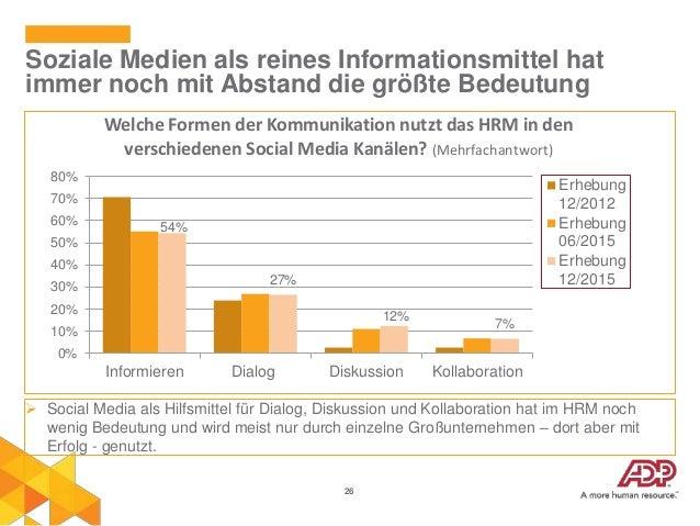 26 Soziale Medien als reines Informationsmittel hat immer noch mit Abstand die größte Bedeutung 54% 27% 12% 7% 0% 10% 20% ...