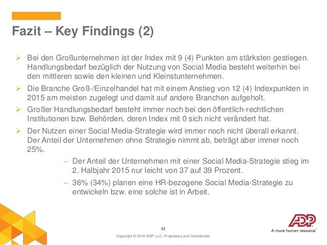 43  Bei den Großunternehmen ist der Index mit 9 (4) Punkten am stärksten gestiegen. Handlungsbedarf bezüglich der Nutzung...