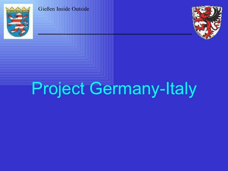Project Germany-Italy