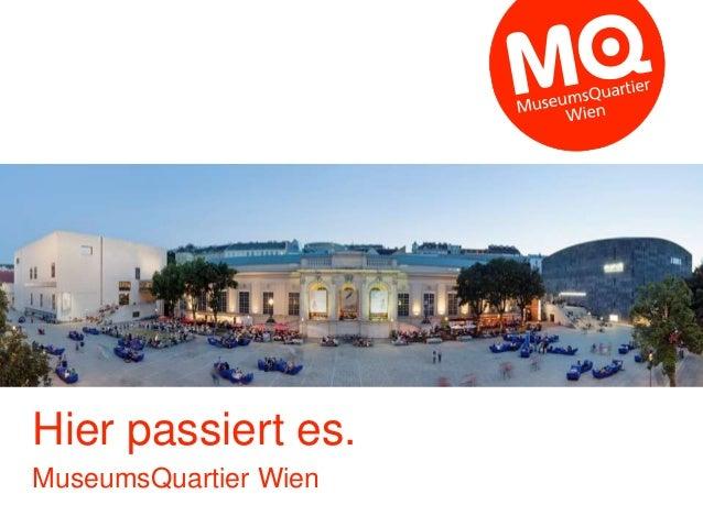 Hier passiert es. MuseumsQuartier Wien