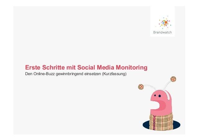 Erste Schritte mit Social Media MonitoringDen Online-Buzz gewinnbringend einsetzen (Kurzfassung)