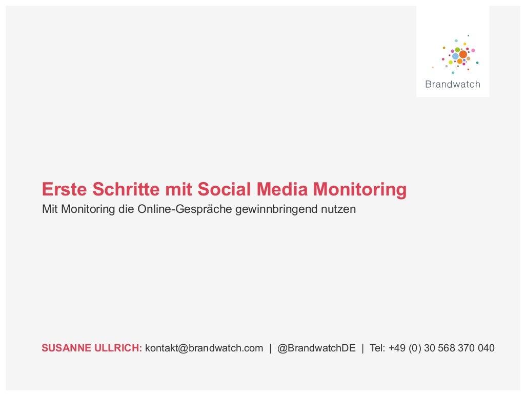Einführung Social Media Monitoring
