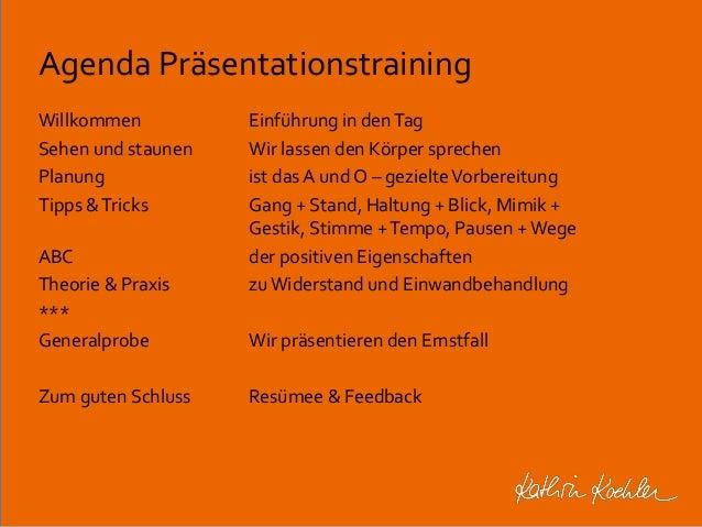 Präsentationstraining charts Slide 2