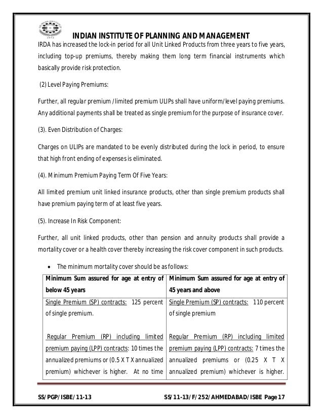 final project comparative study of ulips 'a comparative study of performance of top 5 mutual funds in india' in this  paper the performance evaluation of indian mutual funds is carried out through  relative  daily data about the closing net asset value of the selected schemes  has.