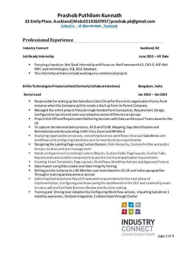 SlideShare  Salesforce Business Analyst Resume