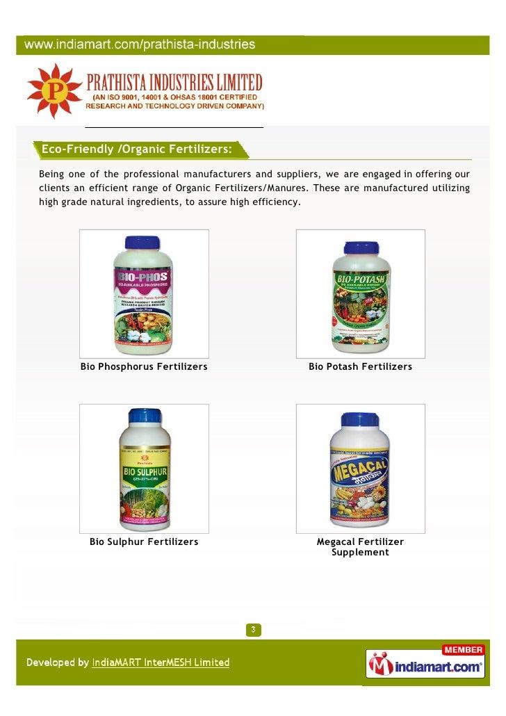 Prathista Industries Limited, Secunderabad, Bio Phosphorus Fertilizers