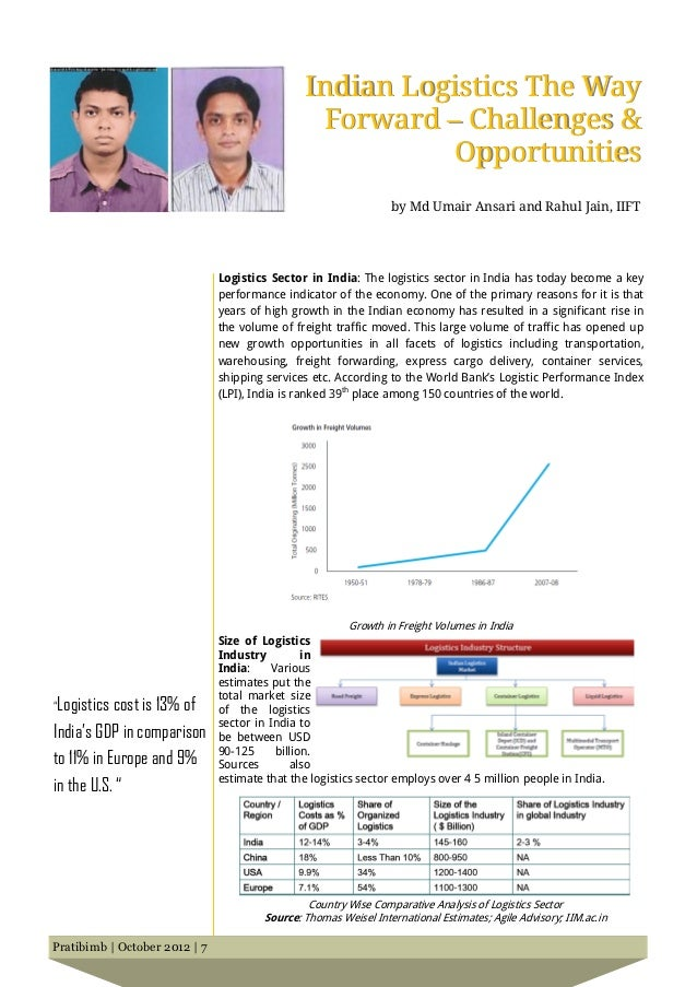 Indian Logistics The Way                                                 Forward – Challenges &                           ...