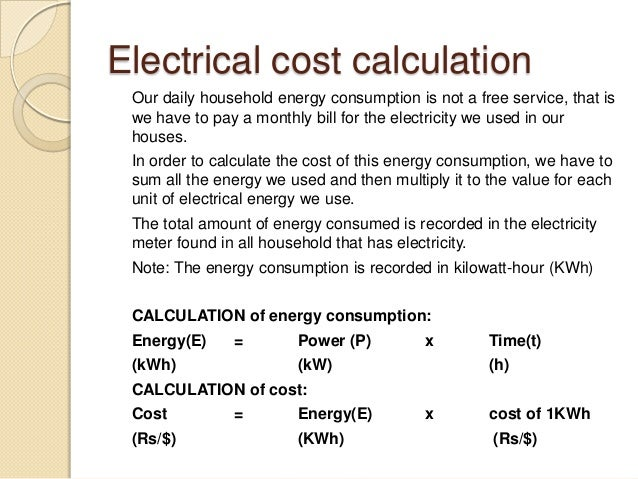 Pratical electricity for Electric motor cost calculator
