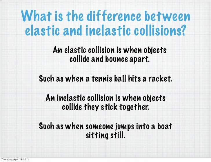 difference between elastic and inelastic