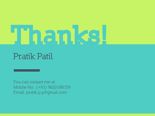 Pratik Patil - Features and Publications