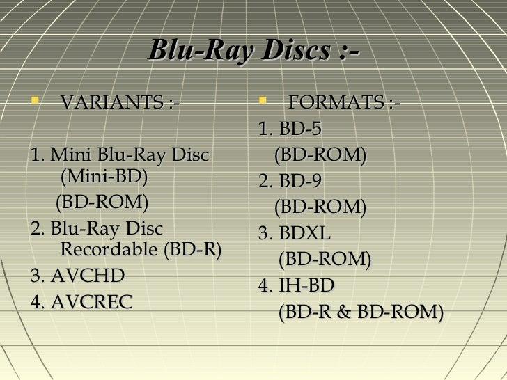 CD, DVD , BLU RAY DISC