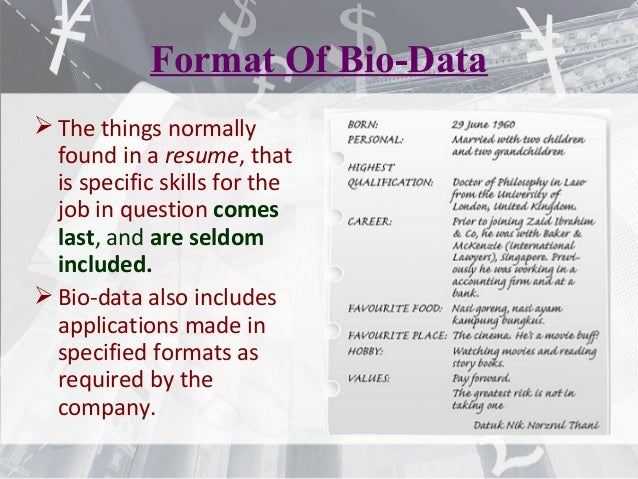 Resume Cv Bio Data Differences E Portfolio