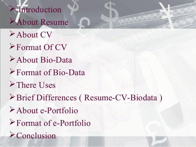 biodata cv
