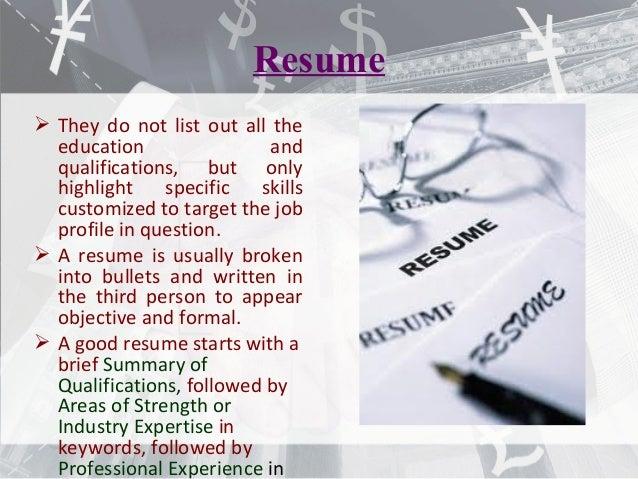 resume   cv   bio