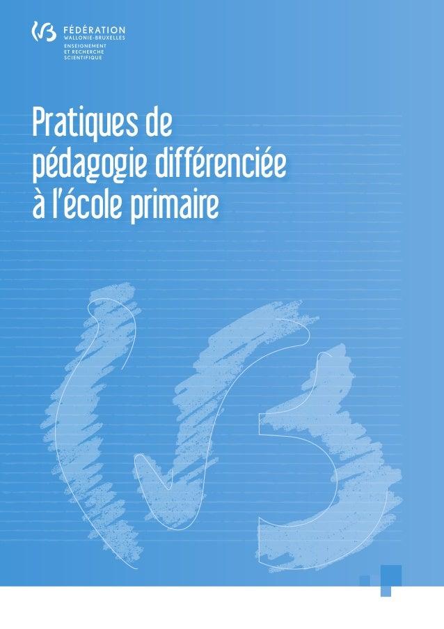 Pratiques de pédagogie différenciée à l'école primaire