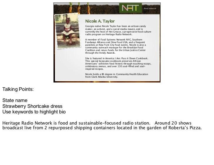 food culturist                                       Nicole A. Taylor                                       Georgia native...