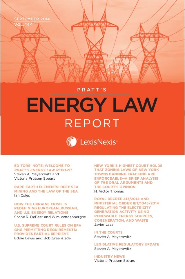 Pratts energy law report sample issue september 2014 pratts energy law report september 2014 vol fandeluxe Images