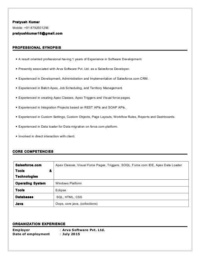 Pratyush Kumar Mobile: +91 8792501256 pratyushkumar16@gmail.com PROFESSIONAL SYNOPSIS • A result oriented professional hav...