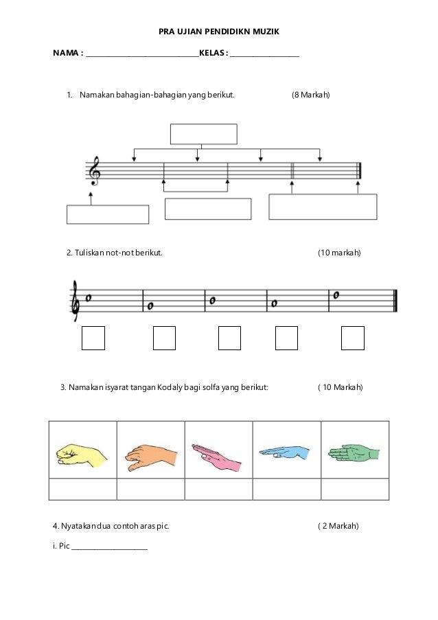 Pra Ujian Kuiz Pendidikan Muzik Tahun 4