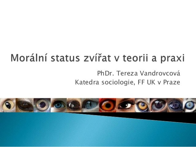 PhDr. Tereza Vandrovcová Katedra sociologie, FF UK v Praze