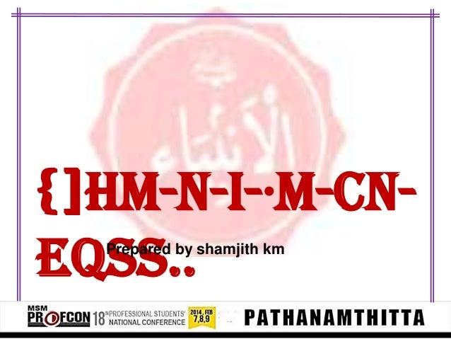{]hm-N-I-·m-cn- eqsS..Prepared by shamjith km