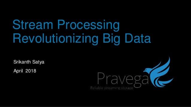 Stream Processing Revolutionizing Big Data Srikanth Satya April 2018