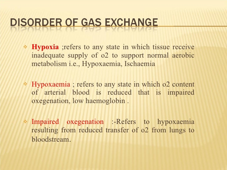 <ul><li>Hypoxia  ;refers to any state in which tissue receive inadequate supply of o2 to support normal aerobic metabolism...