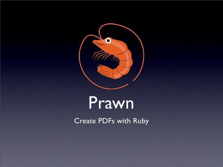 Prawn Create PDFs with Ruby