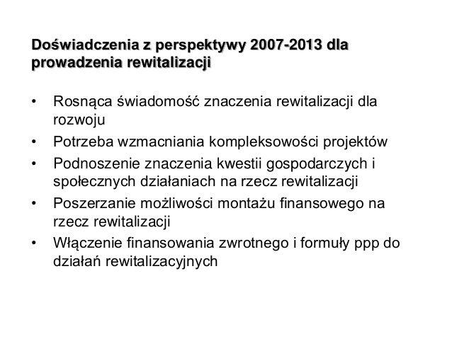 Prawno-organizacyjne aspekty rewitalizacji  Slide 2