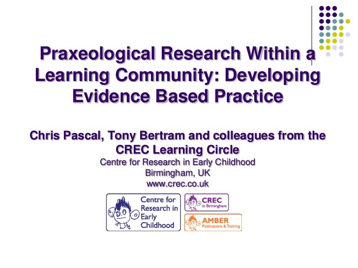 Praxeological Research Within aLearning Community: Developing    Evidence Based PracticeChris Pascal, Tony Bertram and col...