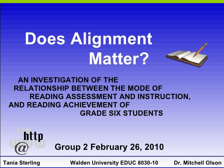 AN INVESTIGATION OF THE  RELATIONSHIP BETWEEN THE MODE OF  READING ASSESSMENT AND INSTRUCTION,  AND READING ACHIEVEMENT OF...