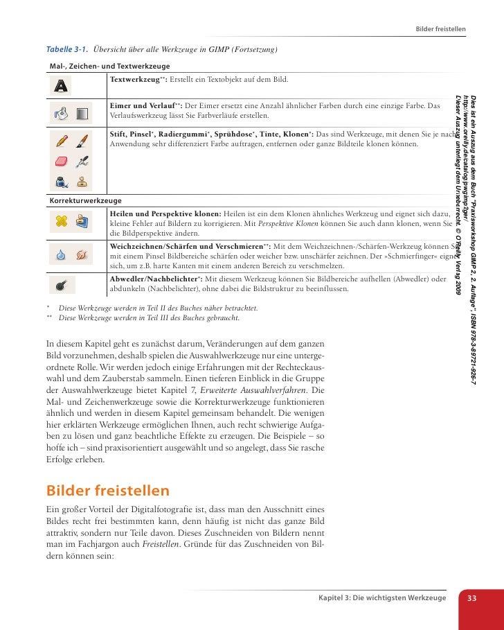 Praxisworkshop GIMP 2 - Die wichtigsten Werkzeuge
