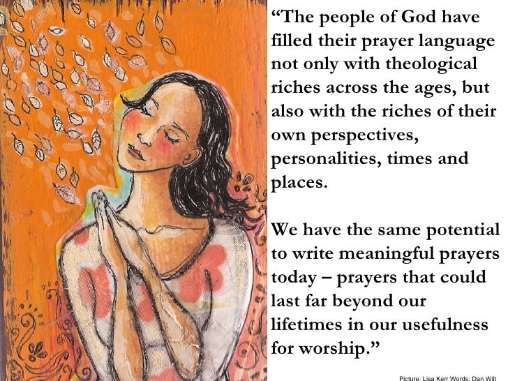 """"""" The people of God have filled their prayer language not only with theological riches across the ages, but also with the ..."""