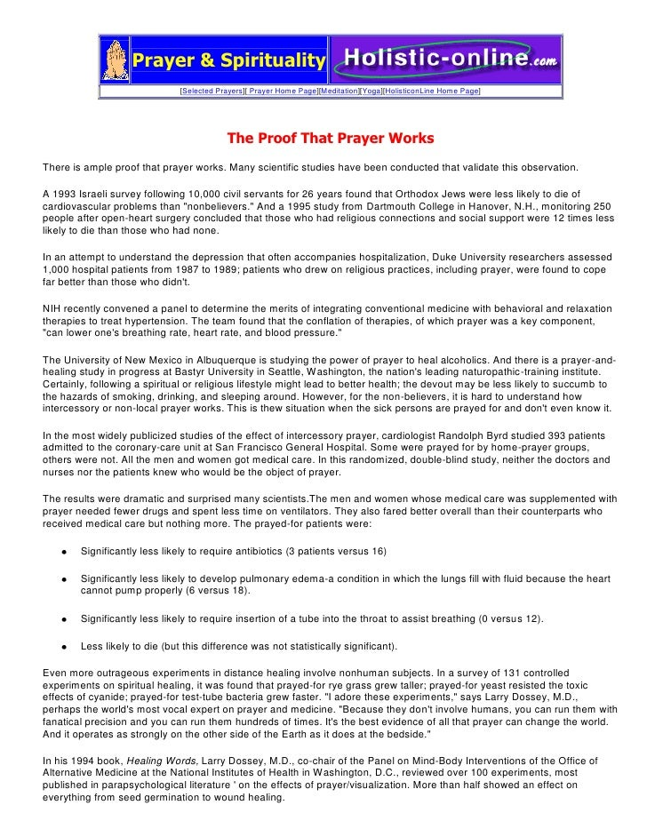 "Prayer & Spirituality[Selected Prayers][ Prayer Home Page][Meditation][Yoga][ HYPERLINK "" http://www.holistic-online.com/h..."