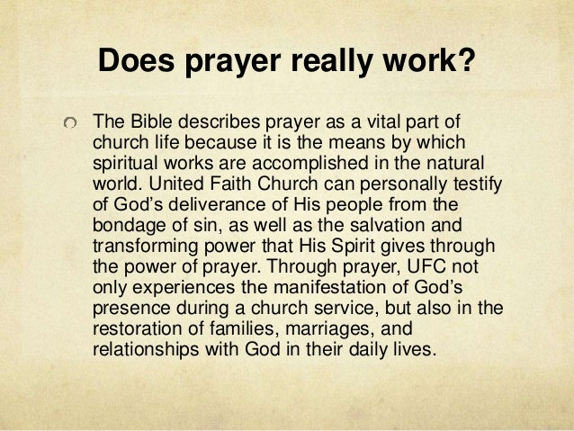 United Prayer Works Ibovnathandedecker