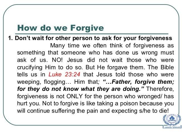 Prayer to help forgive someone