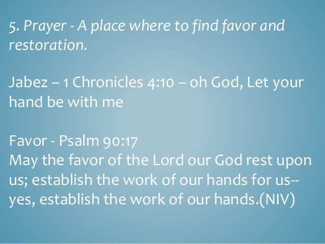 Prayer – a place where to find