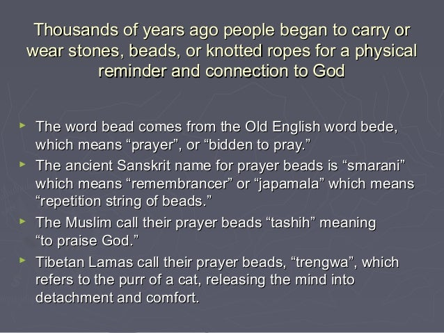 Thousands of years ago people began to carry orThousands of years ago people began to carry orwear stones, beads, or knott...