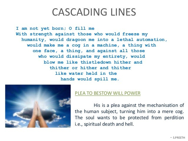 Analysis of Poem Prayer Before Birth by Louis MacNiece