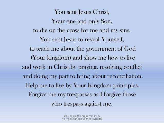 You sent Jesus Christ,             Your one and only Son,     to die on the cross for me and my sins.        You sent Jesu...