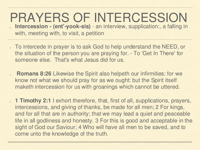 how to intercede in prayer for someone