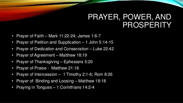 Prayer Power Prosperity
