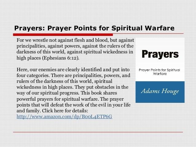 Prayers: Prayer Points for Spiritual Warfare