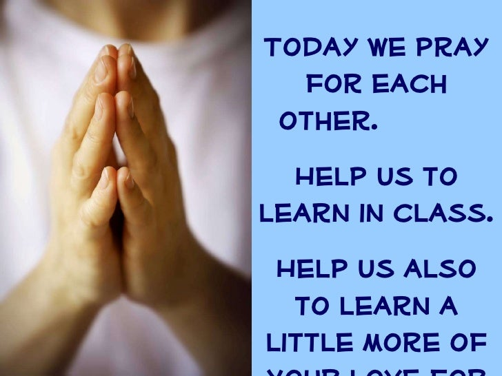 Prayers for tutors