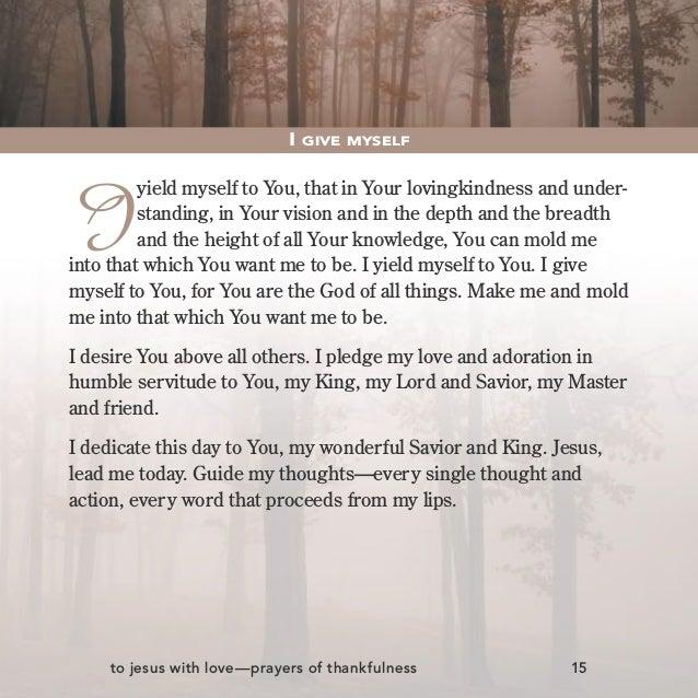 Prayers of thankfulness