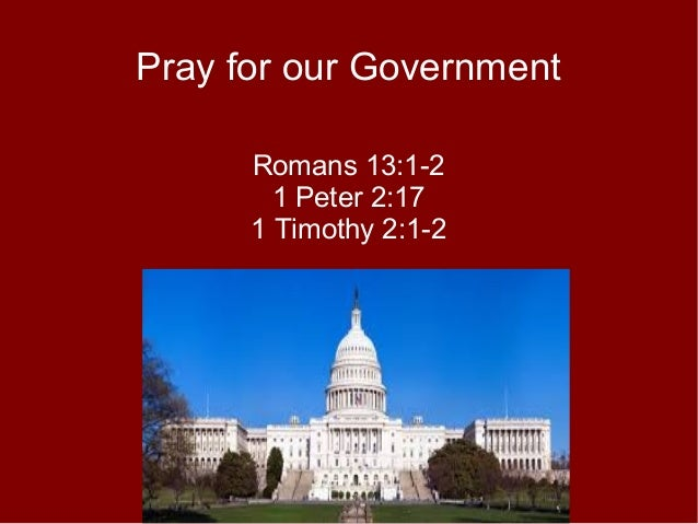 Pray for government