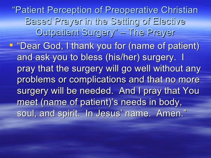Prayer for eye surgery