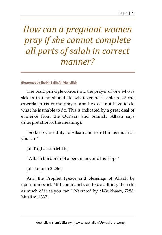Praying while sitting
