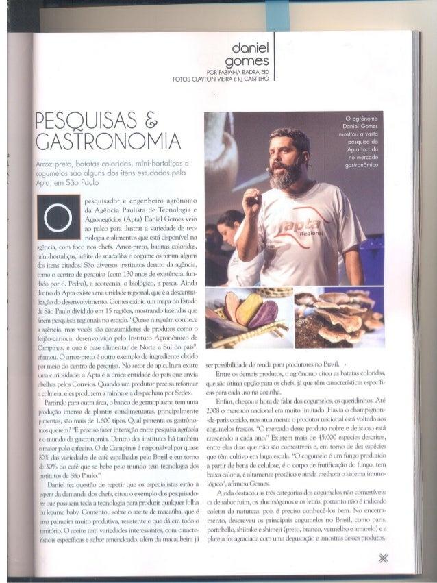 Pesquisas e Gastronomias